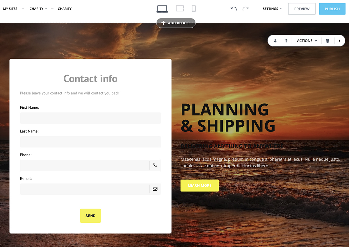 Bitrix 24 CRM, web forms, email marketing